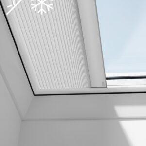 Cortina plisada cubierta plana eléctrica